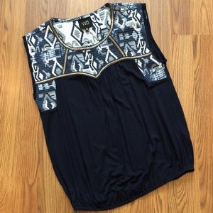 W5 Embroidered Sleeveless Top